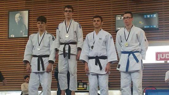 Podium championnat de Bretagne de ju-jitsu 2016
