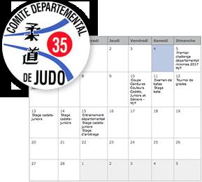 calendrier de la f d ration d partementale judo club du pays de b cherel. Black Bedroom Furniture Sets. Home Design Ideas
